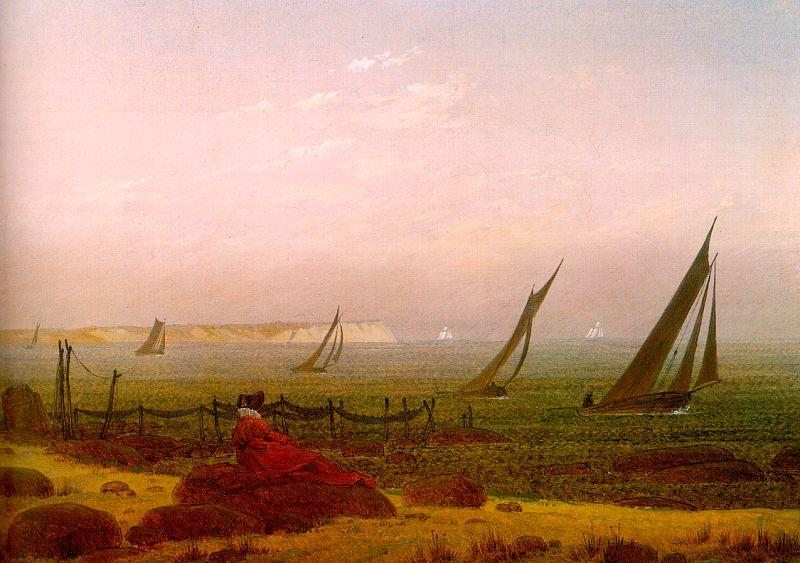 Caspar David Friedrich Woman on the Beach of Rugen 4 oil painting image
